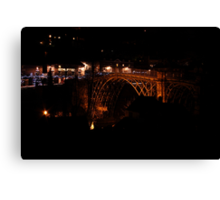 Iron Bridge in the dead of night Canvas Print