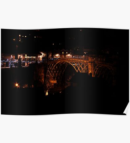 Iron Bridge in the dead of night Poster