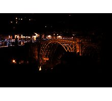 Iron Bridge in the dead of night Photographic Print