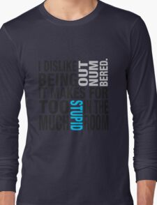 Sherlock quote se2 typography Long Sleeve T-Shirt