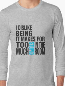 Sherlock quote se2 typography Long Sleeve T-Shirt