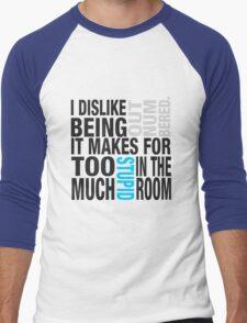 Sherlock quote se2 typography Men's Baseball ¾ T-Shirt