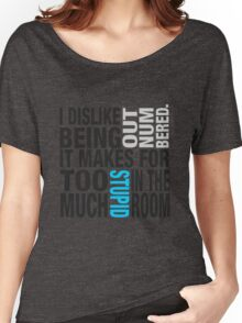 Sherlock quote se2 typography Women's Relaxed Fit T-Shirt