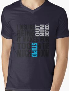 Sherlock quote se2 typography Mens V-Neck T-Shirt