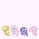 Weeny My Little Pony- Mane Six by LillyKitten