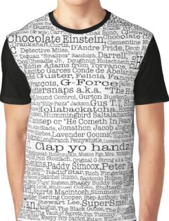 Psych tv show poster, nicknames, Burton Guster Graphic T-Shirt