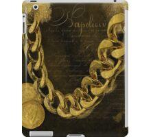 Napoleons Gold, glitter, brown, monochrome iPad Case/Skin