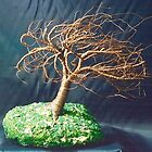 RUSTED WIND SWEPT - Wire Tree Sculpture by Sal Villano