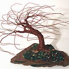 SLATED WIND SWEPT - Wire Tree Sculpture by Sal Villano