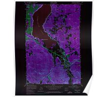 USGS Topo Map Washington State WA Issaquah 241676 1950 24000 Inverted Poster