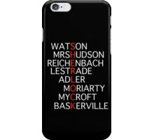 Sherlock - Acrostic Design iPhone Case/Skin
