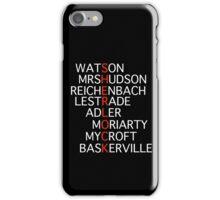 Sherlock - Acrostic Design iPhone Case/Skin