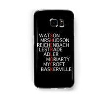 Sherlock - Acrostic Design Samsung Galaxy Case/Skin