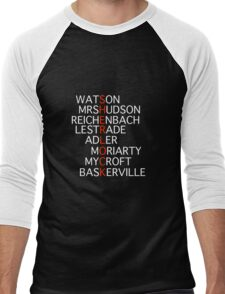 Sherlock - Acrostic Design Men's Baseball ¾ T-Shirt