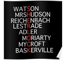 Sherlock - Acrostic Design Poster