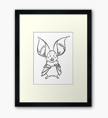 Cute Bat Framed Print