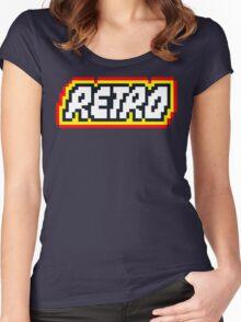 Retro | 8 Bit 80s Geek Women's Fitted Scoop T-Shirt