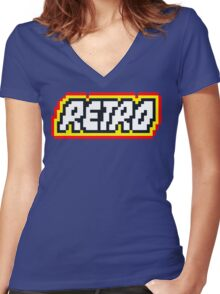 Retro | 8 Bit 80s Geek Women's Fitted V-Neck T-Shirt