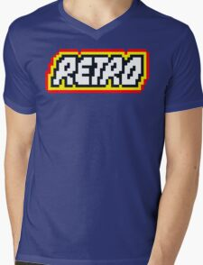 Retro   8 Bit 80s Geek Mens V-Neck T-Shirt