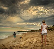 Evening on the Beach by Heather Prince