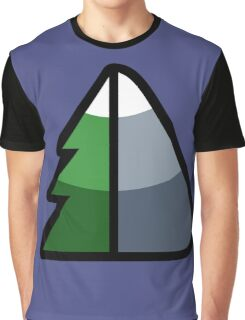 Forest and Mountain symbol Graphic T-Shirt