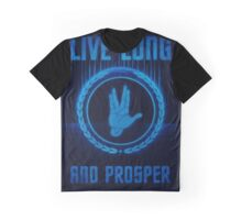 Live Long and Prosper - Spock's hand - Leonard Nimoy Geek Tribut Graphic T-Shirt