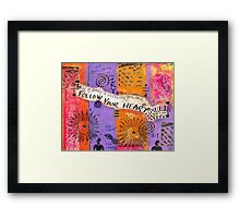 Keep Your Head to the Sky Framed Print