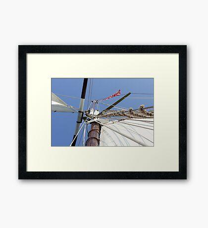 Mighty Mast Framed Print