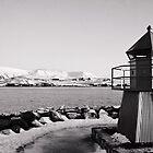 Mt. Esja and Viðey by Ólafur Már Sigurðsson