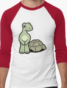 Tort-ally Naked Tortoise Men's Baseball ¾ T-Shirt