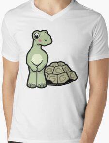 Tort-ally Naked Tortoise Mens V-Neck T-Shirt