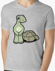 Tort-ally Naked Tortoise Mens V-Neck T-Shirt