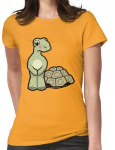 Tort-ally Naked Tortoise Womens Fitted T-Shirt