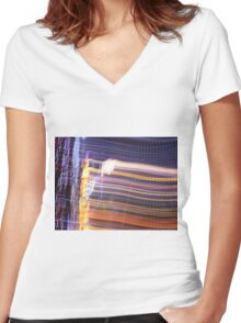 Abstract - Light  Women's Fitted V-Neck T-Shirt