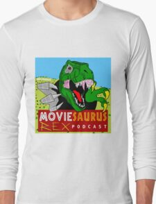 The Moviesaurus Rex Podcast Cover Art Long Sleeve T-Shirt
