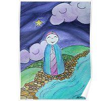 Mizuko Jizo dark sky with star Poster