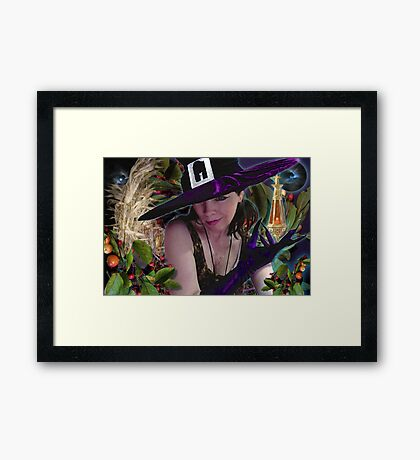 the only thing that rhymes with purple . . . .  Framed Print