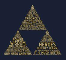 Legend of Zelda Typography Kids Tee
