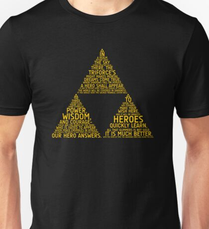 Legend of Zelda Typography Unisex T-Shirt