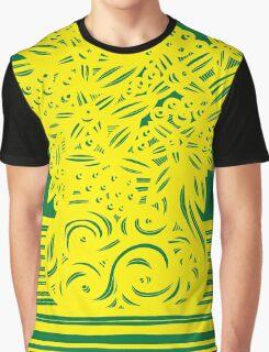 Kingham Flowers Yellow Green Graphic T-Shirt