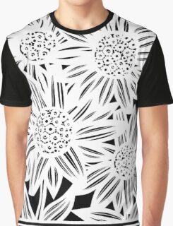 Pisula Flowers Black and White Graphic T-Shirt