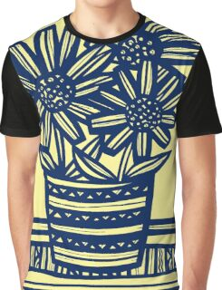 Anthon Flowers Yellow Blue Graphic T-Shirt