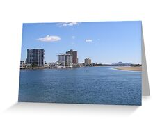 Inlet on the 'Sunshine Coast' Queensland. Greeting Card