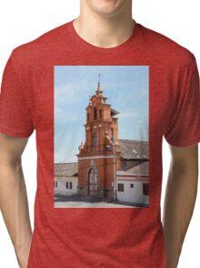 Facade of Immantag Church Tri-blend T-Shirt