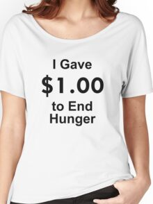 I Gave $1 To End Hunger – Randy Marsh, One Dollar, South Park Women's Relaxed Fit T-Shirt