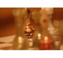 Christmas Chess Game Photographic Print