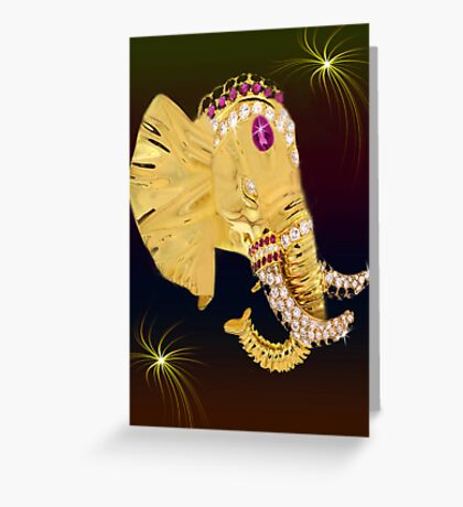 (◡‿◡✿) (◕‿◕✿) ELEPHANT WITH DIAMONDS  (◡‿◡✿) (◕‿◕✿) Greeting Card