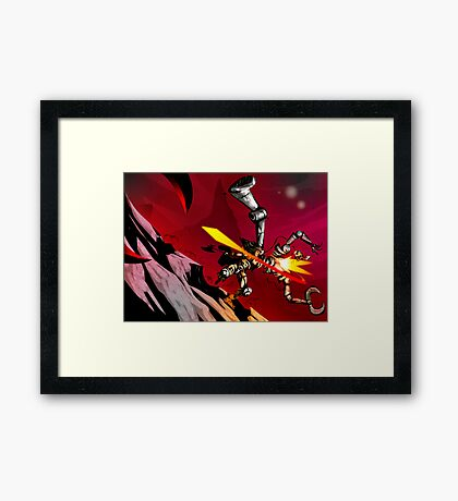 This is Pulp - The Barbarian's Last Stand Framed Print