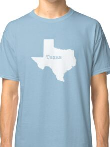 Texas State outline Classic T-Shirt
