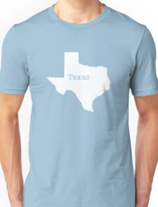 Texas State outline Unisex T-Shirt
